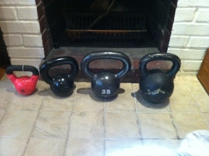 My Kettle bell collection