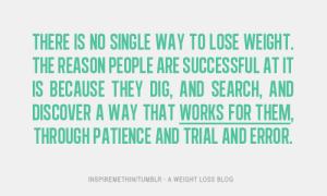 no single way t lose wieght