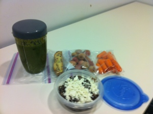 This is what I packed for lunch/snacks. Also have an apple at my desk and Greek yogurt in the fridge (in case of emergency)